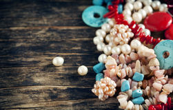 Different colorful beads Stock Photos