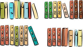 Different colorful books Stock Photos