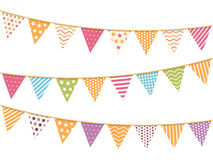 Different colorful bunting Stock Photos