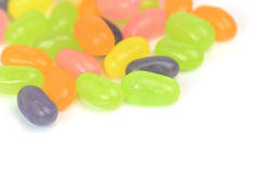 Different colorful candy jelly on white background Stock Photo