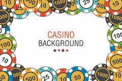 Background casino chips. top view Stock Image