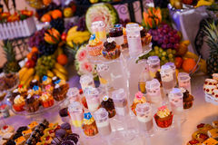 Different colorful cupcakes Royalty Free Stock Images