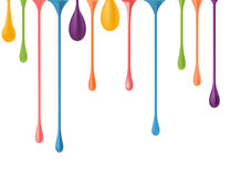 Different colorful drops.  Royalty Free Stock Image