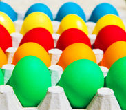Different colors Easter eggs Stock Image