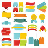 Different colorful labels icons set, flat style Royalty Free Stock Image