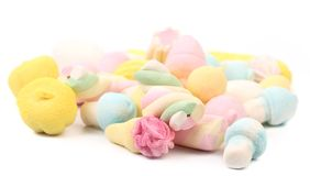 Different colorful marshmallow close up. Stock Image