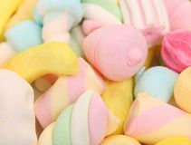 Different colorful marshmallow. Royalty Free Stock Images