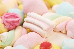 Different colorful marshmallow Stock Photography