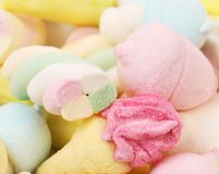 Different colorful marshmallow. Royalty Free Stock Photo