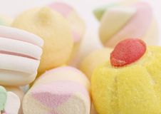 Different colorful marshmallow. Stock Images
