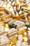Different colorful pills. Pile of different colorful pills Stock Image