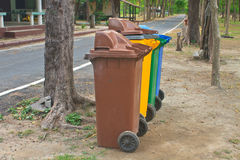 Different colorful recycle bins Stock Image