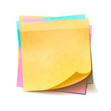 Different colorful sticky notes in pile on white background Stock Images
