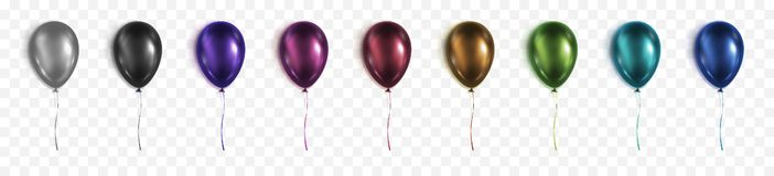In different colors balloons for your design royalty free illustration