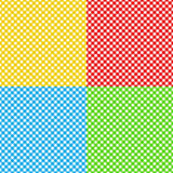Different colors checked fabric tablecloth texture seamless patt Stock Image