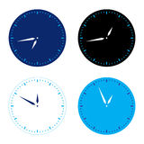 Different colors clock set Stock Image