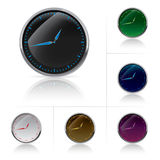 Different colors clock set Royalty Free Stock Image