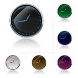 Different colors clock set royalty free illustration