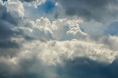 The different colors of the clouds before the storm.  royalty free stock photos