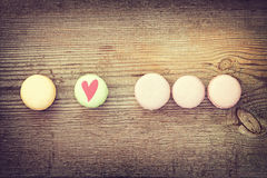 Different colors and  flavors french macarons Stock Image