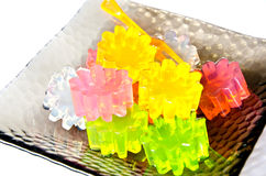 Different colors gelatin Stock Photos