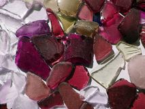 Colorful glass pieces, can use as background Royalty Free Stock Photography