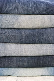 Different colors jeans Stock Photography