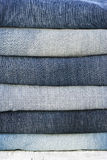 Different colors jeans Stock Photo