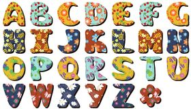 Different colors letters scrapbook Stock Images