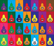 Different colors pears background Royalty Free Stock Photography