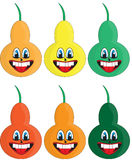 Different colors pears Royalty Free Stock Images