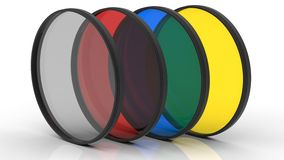 Different Colors Photo Filters Royalty Free Stock Photos