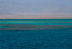 Different colors of sea and desert Stock Photos