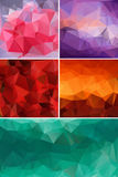 Different colors set of abstract background polygon. Stock Photo