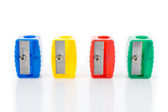 Different colors sharpener Royalty Free Stock Photos