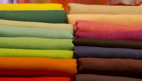 Different colors silk fabric Stock Image