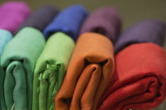 Different colors silk fabric Royalty Free Stock Image