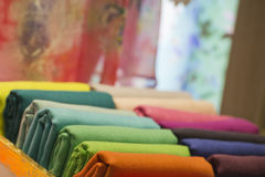 Different colors silk fabric Royalty Free Stock Photography