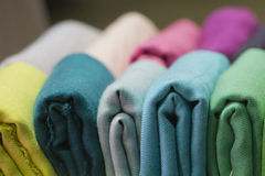 Different colors silk fabric Royalty Free Stock Photo