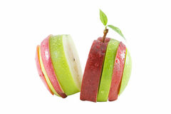 Different colors sliced apple Stock Images