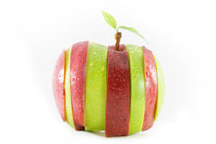 Different colors sliced apple Royalty Free Stock Photo