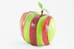 Different colors sliced apple Royalty Free Stock Photos