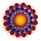 Of different colors spheres. On a white background stock illustration