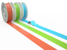 Different colors tape, 3D Royalty Free Stock Photography