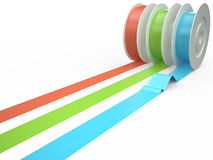Different colors tape, 3D Stock Photos