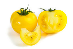 Different colors tomatos, Solanum lycopersicum Stock Photography