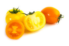 Different colors tomatos, Solanum lycopersicum Royalty Free Stock Image
