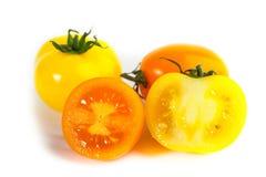 Different colors tomatos, Solanum lycopersicum Stock Photo