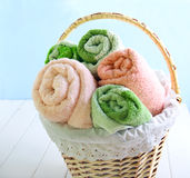 Different colors towels Royalty Free Stock Photo