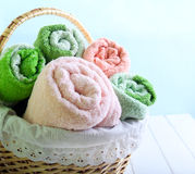 Different colors towels Royalty Free Stock Image